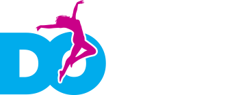 Dance Online logo multi row white